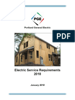 Construction Pge Electric Service Requirements
