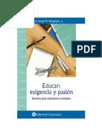 Papa Francisco - Educar. Exigencia Y Pasion Desafio Para Educadores Cristianos.pdf