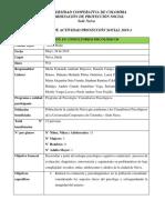 INFORME PROYECCIÓN SOCIAL PACIENTES2019-1