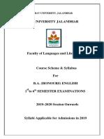 BA Hons English Syllabus 2019 20(1)