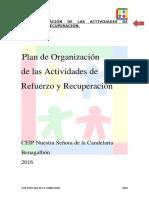 Organizacion de Actividades de Refuerzo