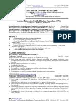 CV Nicholas Godfrey
