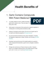 Proven Health Benefits of Garlic.docx