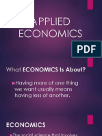 Introduction to Applied Economics