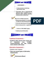 Assessment. .Evaluation 1