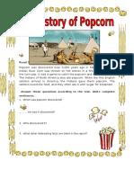 The History of Popcorn Grammar Drills Picture Description Exercises