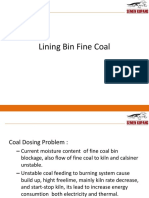 Lining Bin Fine Coal