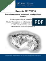 11. Procedimientos de Enfermeria en El Paciente Critico 2017-18-0
