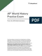 AP World 2014 Practice Exam