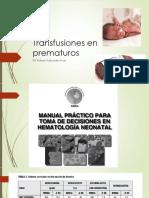 Transfusiones en Prematuros