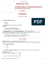 Course Notes for Geophysics