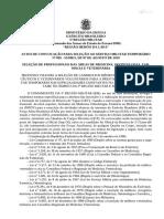 Aviso de Convocação 005 MFDV