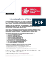 Internationalisation Webinar 2019 Announcement
