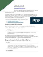 How do stock market works?