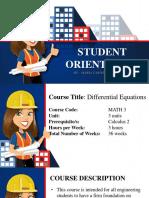 De p1 Student Orientation
