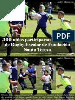 Andrés Chumaceiro - 300 Niños Participaron en Torneo de Rugby Escolar de Fundación Santa Teresa