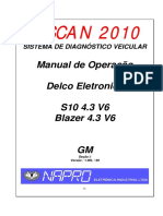 Manual de Injecao GM Blazer S10 4.3 V6 Delco