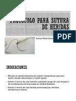 Protocolo Para Sutura de Heridas