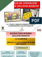 Pasos de Operación en Ciclovía (Bogotá)