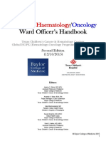 Pediatric Hematology-Oncology Ward Officers Handbook