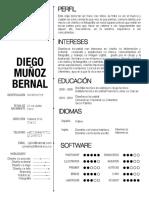 Hoja de Vida Diego Mb