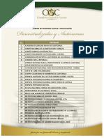 Entidades Descentralizdas y Autónomas Sujetas a Fiscalización Por CGC