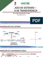3 Modelamiento de Sistemas - Función de Transferencia