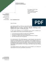 Invitation Letters