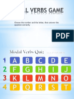 Modal Verbs Quiz Game