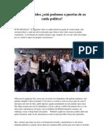 Guion Sobre La Fundacion de Podemos