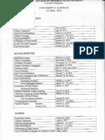 Academic Calendar SY 2014-2015
