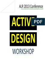 Active Design Workshop