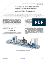 Mathematics Models on the Size of Flexible Manufacturing Systems, Performance Indicators and their Components