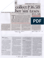 Business Mirror, Aug. 13, 2019, Govt to collect P36.5B from other sin taxes.pdf