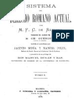 Von Savigny - Derecho Romano Actual