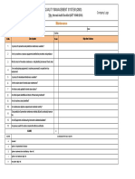 Internal Audit Checklist - Maintenance