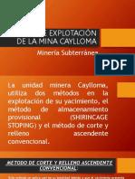 Método de Explotación de La Mina Caylloma