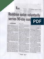 Malaya, Aug. 13, 2019, Romblon solon voluntarily serves 90-day suspension.pdf