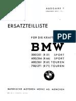 BMW R51 R66 R61 R71 Ersatzteilliste Illustrated Parts List Diagram Manual 1942