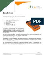 Leaflet Easysplicer Engels