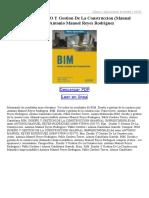 Bim DiseÑO Y Gestion de La Construccion (Manual Imprescindible)