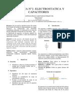 Informe 2 Practica Electrostatica y Capacitores
