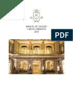 HotelMajestic Barcelona ManualCalidadMedioAmbiente2018