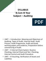 Auditing Unit 1(1)