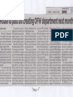 Philippine Star, Aug. 13, 2019, House to pass bill creating OFW department next month.pdf