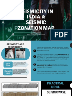 Seismicity in India & Seismic Zonation Map