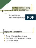 Temperature Measurement Using Sensors