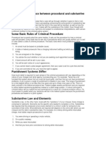 Substantive vs Procedural