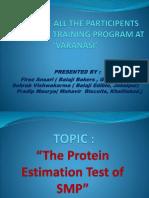 PPT on Protein Estimation