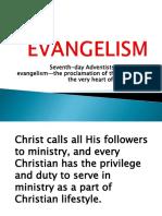 Evangelism. Promotional Talk